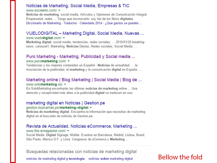 bellow the fold agencia webtilia